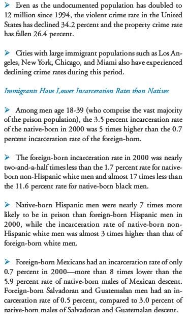 Immigrant crimerat