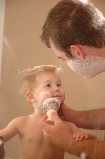 tylers first shave ... May 9, 2012, announcing that he supports gay marriage. (Steve Pope / AP)