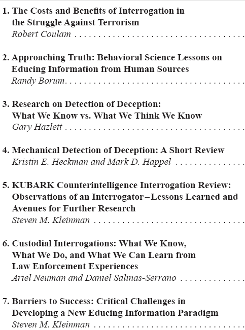 Partial table of contents