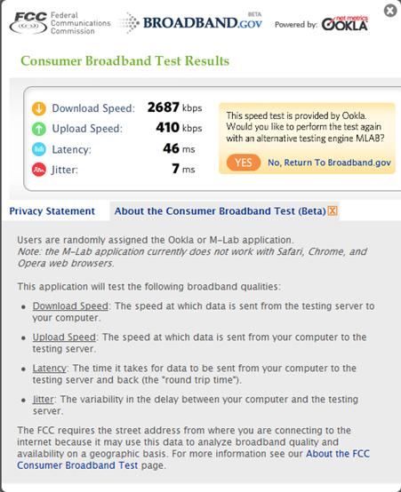 Broadband test