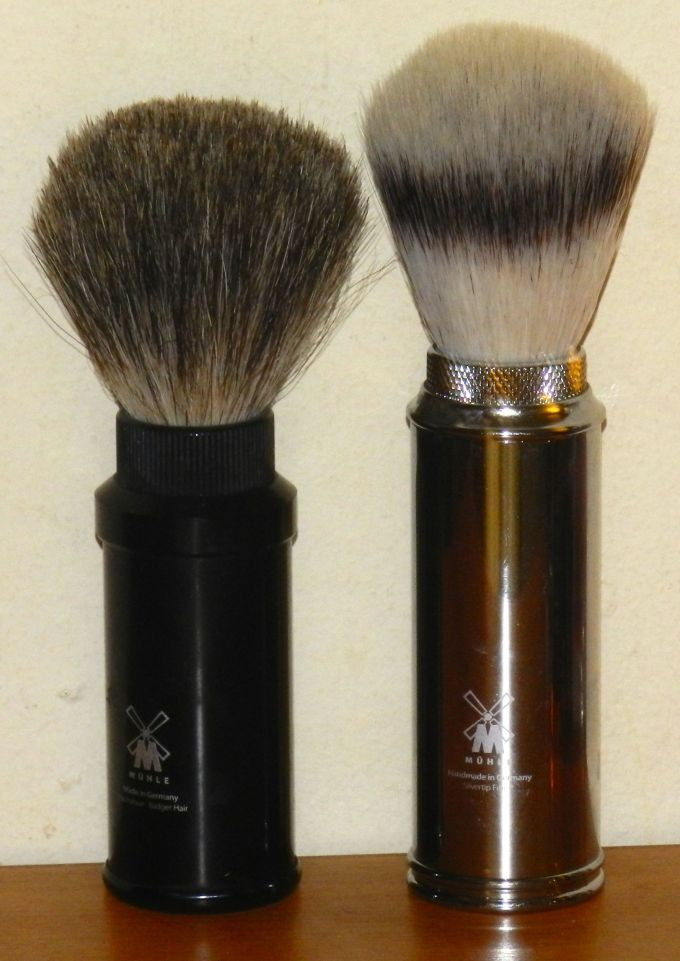 Two Mühle travel brushes