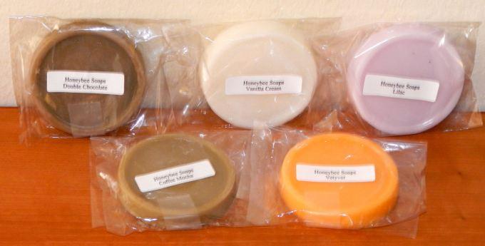 Honeybee soap samples
