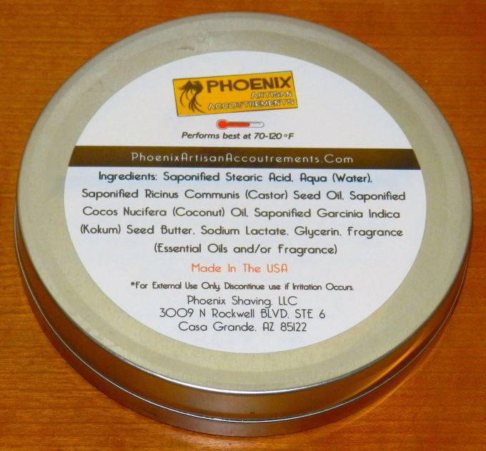 Phoenix Coconut ingredients