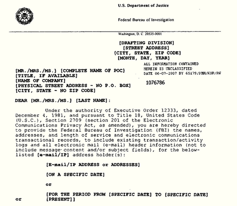 national security letter