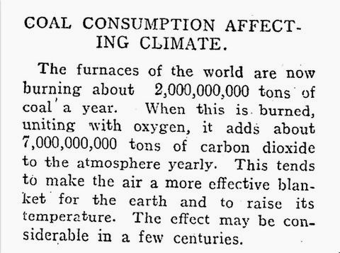 A 1912 News Article Ominously Forecasted The Catastrophic Effects Of