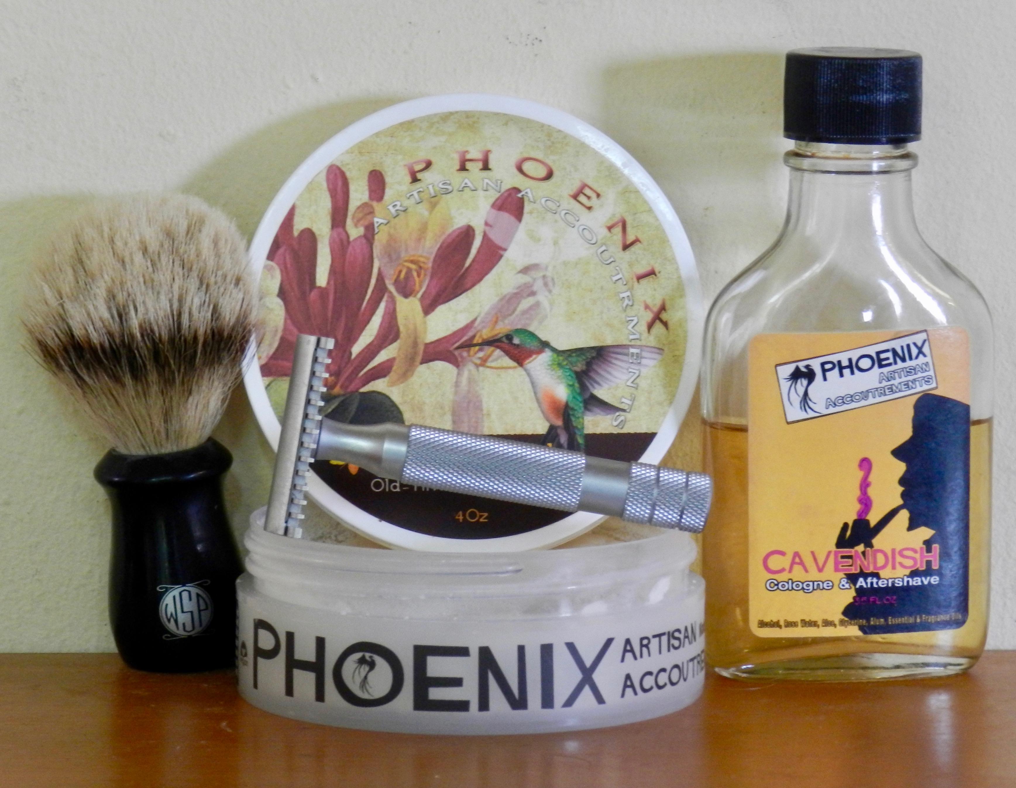 iKon open-comb and Phoenix Artisan Honeysuckle soap with WSP